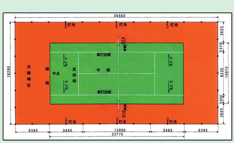 网球场运动地坪,PU球场地坪