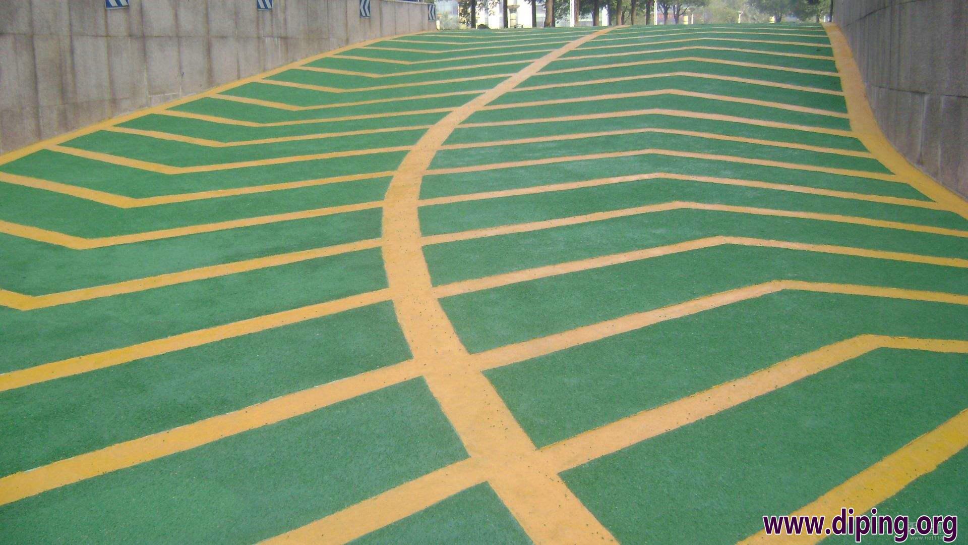 环氧树脂防滑车道,环氧止滑车道,地下车库停车场车道