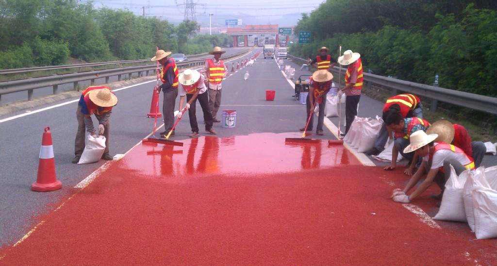 防滑陶瓷颗粒路面施工